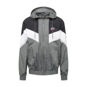 Nike Sportswear Přechodná bunda  šedá / bílá / černá