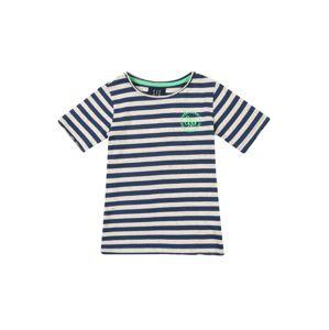 STACCATO Tričko  modrá / svítivě zelená / offwhite