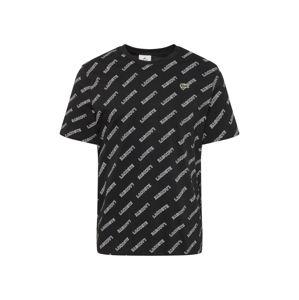 Lacoste LIVE Tričko  černá / bílá
