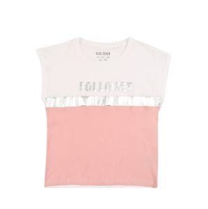 BLUE SEVEN Tričko  bílá / růžová / stříbrná