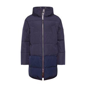 SCOTCH & SODA Zimní kabát 'Long quilted down jacket'  noční modrá