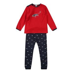 SANETTA Pyžamo  modrá / karmínově červené