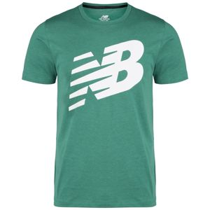 New Balance Funkční tričko 'Heathertech'  bílá / zelená