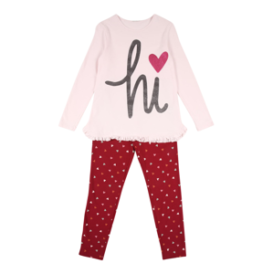 UNITED COLORS OF BENETTON Pyžamo  černá / růžová / krvavě červená