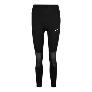 NIKE Sportovní kalhoty 'Icon Clash Fast'  černá / žlutá / bledě fialová