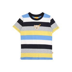 Steiff Collection Tričko  modrá / žlutá / šedá / bílá