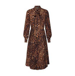 Lauren Ralph Lauren Košilové šaty 'BARRY'  hnědá / černá