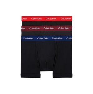 Calvin Klein Underwear Boxerky  černá / modrá / červená / merlot