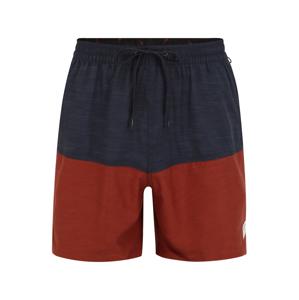 QUIKSILVER Plavecké šortky  červený melír / šedý melír
