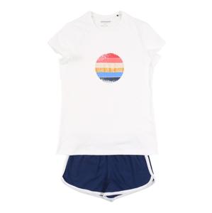 SCHIESSER Pyžamo  bílá / tmavě modrá / mix barev