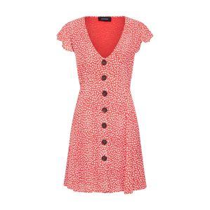 MINKPINK Letní šaty 'TINY BLOOM'  červená / bílá
