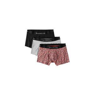 Abercrombie & Fitch Boxerky  černá / červená / bílá