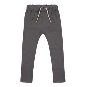 NAME IT Kalhoty  čedičová šedá / béžová