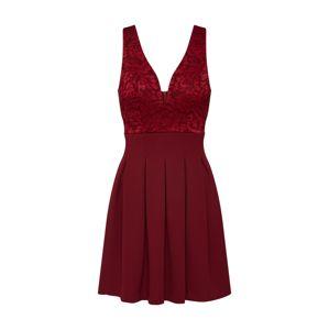 WAL G. Koktejlové šaty '7502'  vínově červená