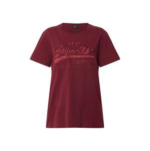 Superdry Tričko  tmavě červená