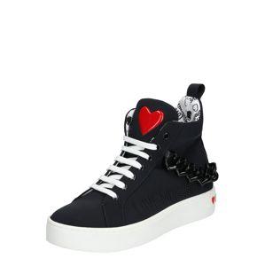 Love Moschino Kotníkové tenisky 'JA1553'  bílá / černá