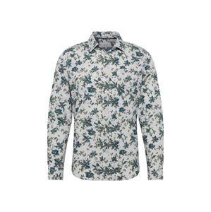 Pepe Jeans Košile 'DOUGLAS'  tmavě zelená / offwhite