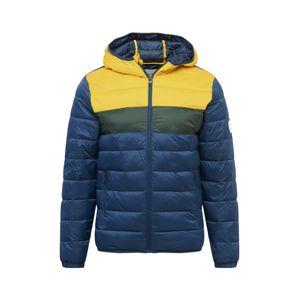 JACK & JONES Zimní bunda 'Magic'  černá / námořnická modř / žlutá
