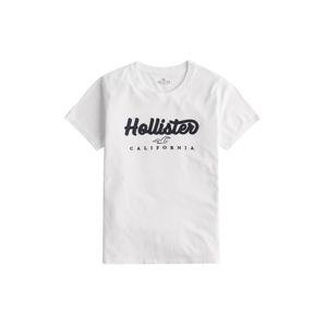 HOLLISTER Tričko 'Tech Core'  bílá / tmavě modrá / černá