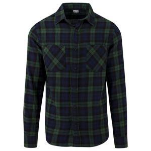 Urban Classics Košile 'Checked Flanell'  námořnická modř / trávově zelená / černá
