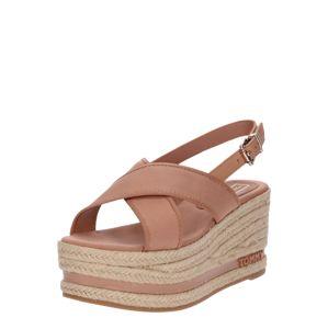 TOMMY HILFIGER Páskové sandály 'Sue 3C'  světle hnědá