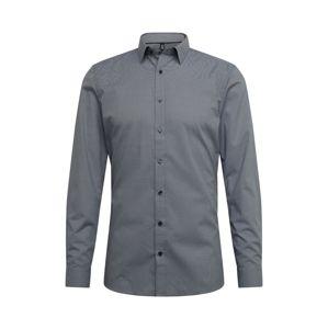 OLYMP Společenská košile 'No. 6 Print minimal'  šedá