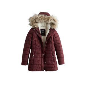 HOLLISTER Zimní kabát  vínově červená