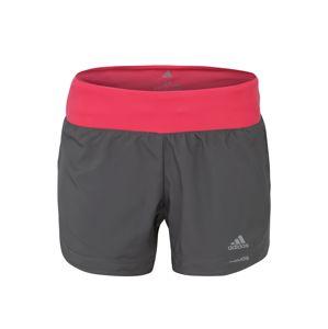 """ADIDAS PERFORMANCE Sportovní kalhoty 'RUN IT SHORT W 3""""'  šedá / pink"""