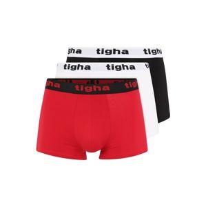 Tigha Boxerky 'ROCKY'  bílá / červená / černá