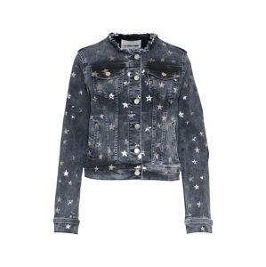 Rich & Royal Přechodná bunda  šedá džínová / stříbrná