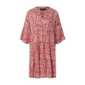 Zwillingsherz Košilové šaty 'Lea'  bílá / červená