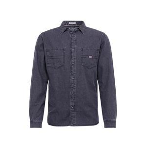 Tommy Jeans Košile  černá džínovina