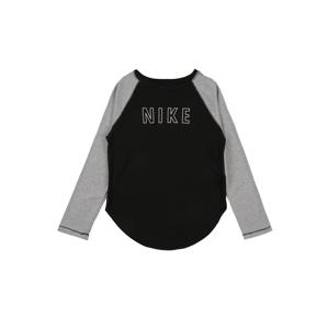 NIKE Funkční tričko 'Trophy'  bílá / černá / šedá
