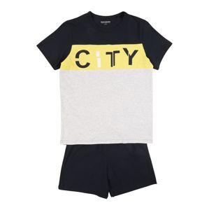 SCHIESSER Pyžamo  žlutá / šedá / námořnická modř