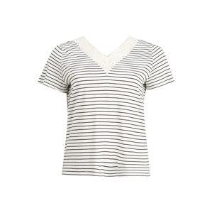 Vero Moda Curve Tričko 'VMHELA SS TOP JRS GA CURVE'  bílá / noční modrá