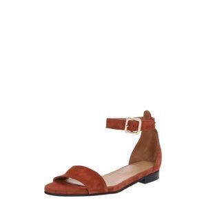 SELECTED FEMME Páskové sandály  rezavě červená