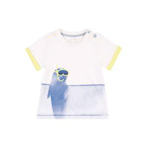 ESPRIT Tričko  bílá / žlutá / modrá