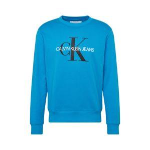 Calvin Klein Jeans Mikina 'MONOGRAM REG CREWNECK'  modrá