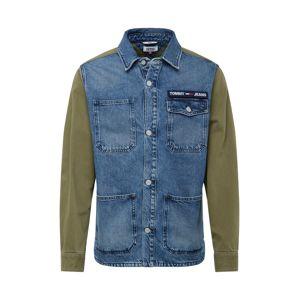 Tommy Jeans Přechodná bunda ' Cargo '  modrá džínovina / olivová