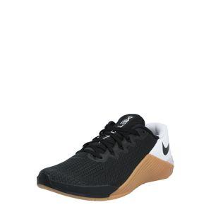NIKE Sportovní boty 'NIKE METCON 5'  bílá / černá / hnědá