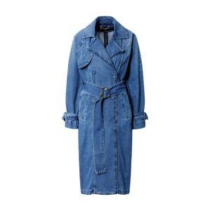 PATRIZIA PEPE Přechodný kabát  modrá džínovina