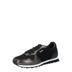 Pepe Jeans Tenisky 'VERONA'  černá / stříbrná