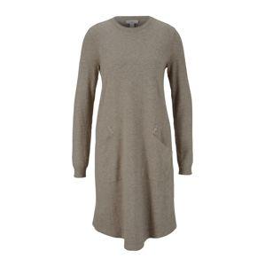 heine Úpletové šaty  šedobéžová