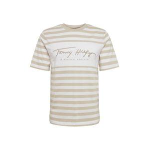 TOMMY HILFIGER Tričko  bílá / velbloudí