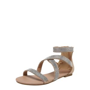 NEW LOOK Páskové sandály 'HAZY'  tělová / stříbrná