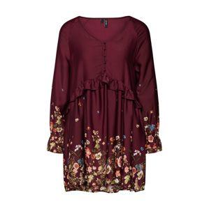 VERO MODA Šaty  mix barev / vínově červená