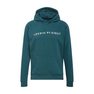 Denim Project Mikina  petrolejová / bílá / červená