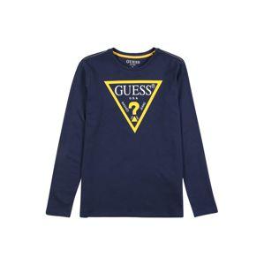 GUESS KIDS Tričko  tmavě modrá / svítivě žlutá