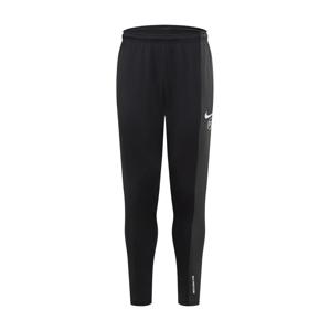 NIKE Sportovní kalhoty  černá / tmavě šedá / bílá