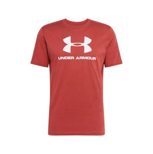 UNDER ARMOUR Funkční tričko  červená / bílá